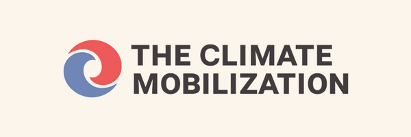 The Climate Mobilization. Banner and Logo.