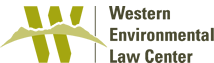 Western Environmental Law Center logo. W with mountains across.