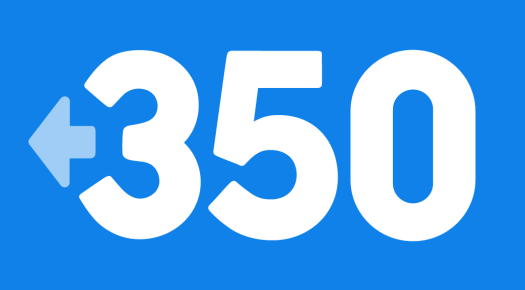 Blue 350 logo