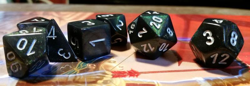 Multi-sided dice.