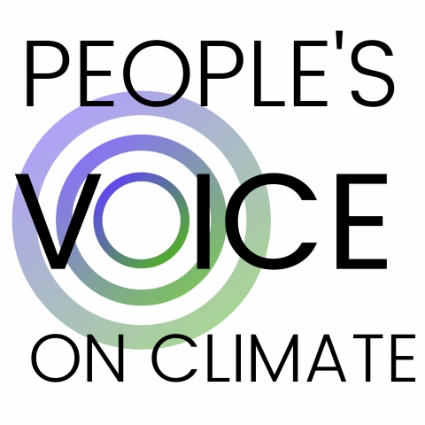 People's Voice on Climate. Radiating concentric circles.