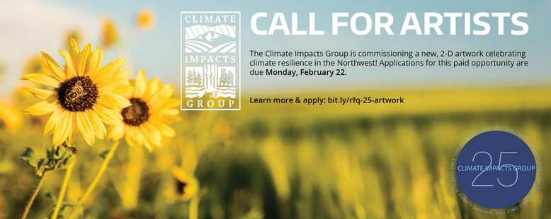 Call for Climate Artists. A field of daisys.