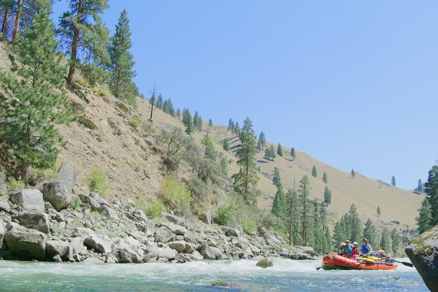 The Matsaw family rafting down the Salmon River, the biggest tributary to the Snake River.