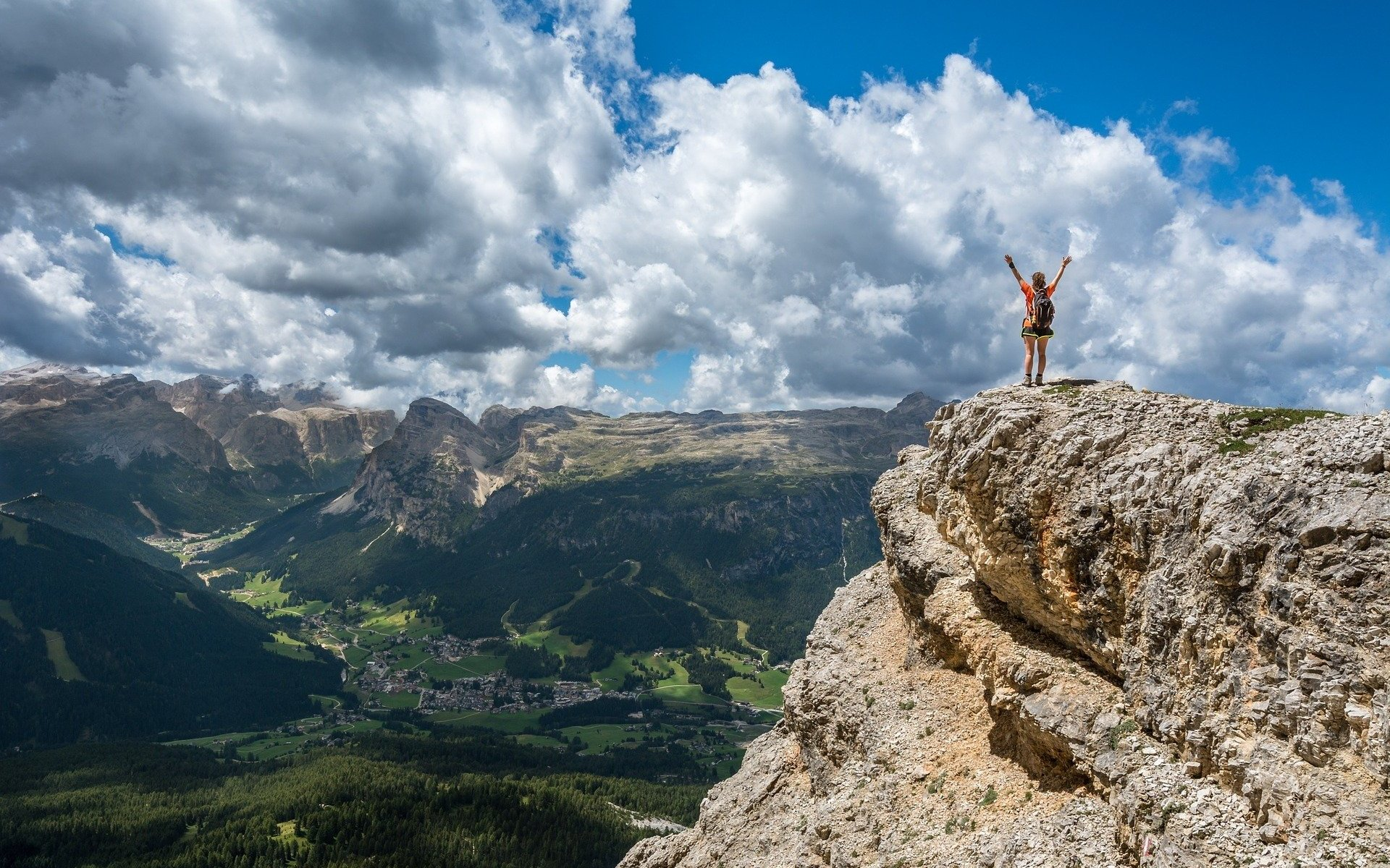 Person on mountain top