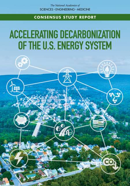 Book cover. Accelerating Decarbonization of the U.S. Energy System.