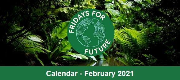 Fridays for Future Calendar for February.