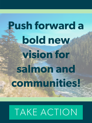 Push forward a bold new vision for salmon and commuities. Take Action.