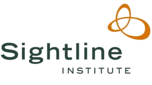 Sightline Institute logo with mobius loop symbol.