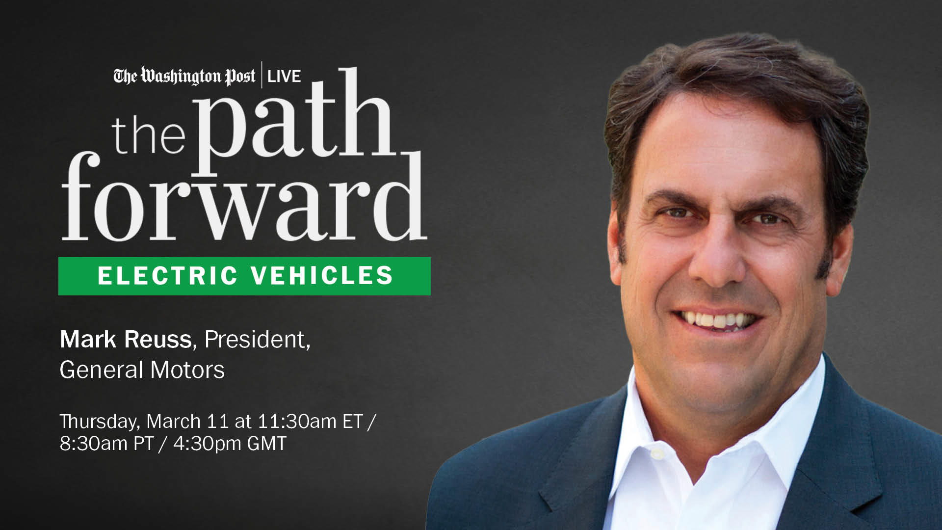 The Path Forward - Electric Vehicles webinar. March 11 at 8:30 am