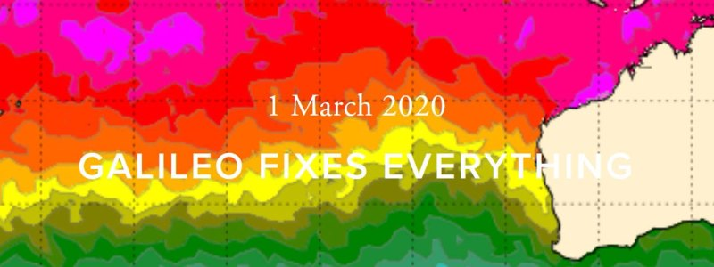 Galileo Fixes Everything. Color heat map.