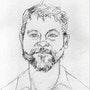 Drawing of journalist David Roberts