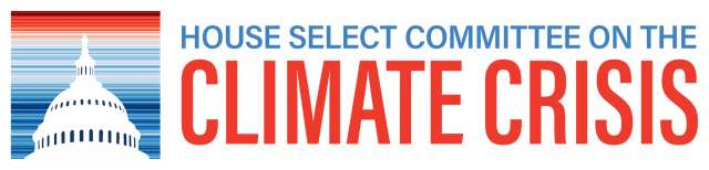 House Select Committee on the Climate Crisis logo. Includes capitol dome.