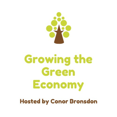 Growing the Green Economy logo. A tree-like icon using circles.