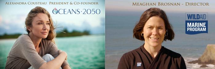 Photos of Alexantra Cousteay and Meghan Brosnan.