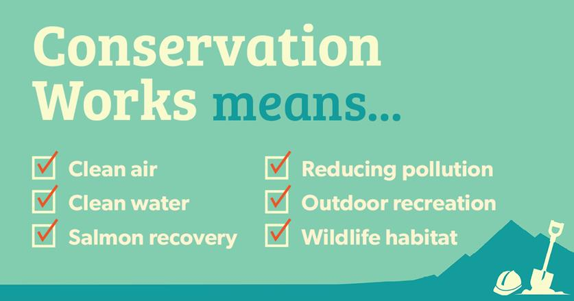 Conservation Works means . . . A list of 6 green efforts.