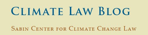 Climate Law Blog, Sabin Center for Climate Change Law - Yellow Banner.