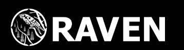 Raven black background logo