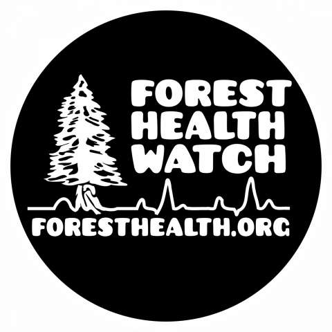 Forest Health Watch. Vital signs circle with tree.