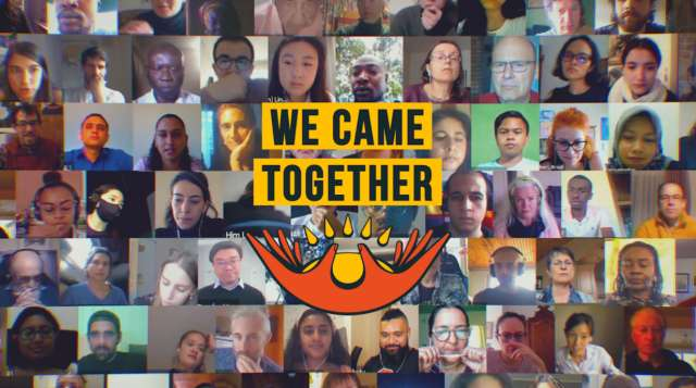 350 Just Recovery for All - We came together - Zoom Gallery View