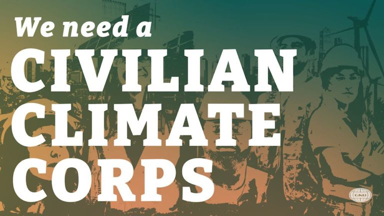 We need a Civilian Climate Corp for our communities