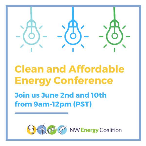 Clean and Affordable Energy Conference. June 2 and 10.