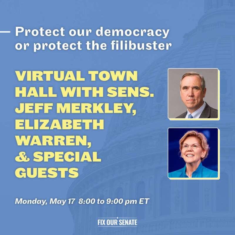 Virtual Town Hall with Sen. Jeff Merkley and Sen. Elizabeth Warren