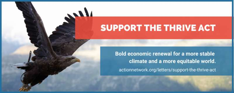 Support the Thrive Act-Eagle flying across banner