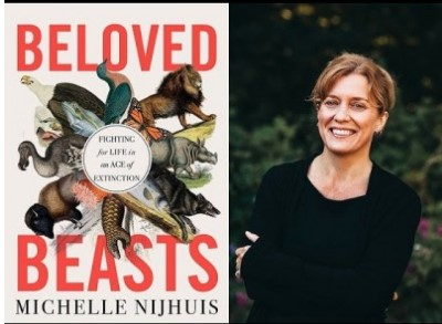 Michelle Nijuis with her latest book, Beloved Beasts