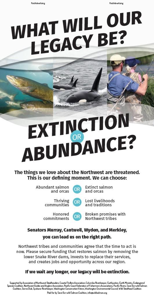 Extinction or Abundance advertisement.
