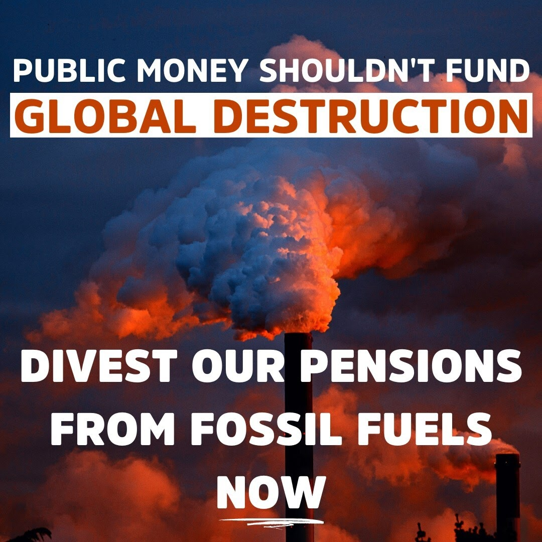 Public money shouldn't be used to fund global destruction.