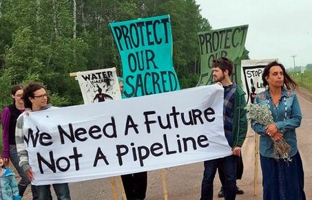 Pipeline protest. We need a future not a pipeline.