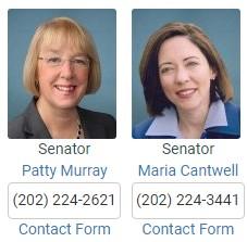 Senator Patty Murray and Senator Maria Cantwell