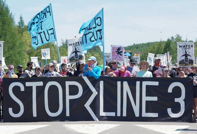 Demonstrators to Stop Line 3