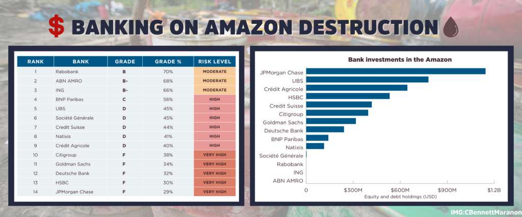 Banking on Amazon Destruction - Chart and graph of bank involvement.