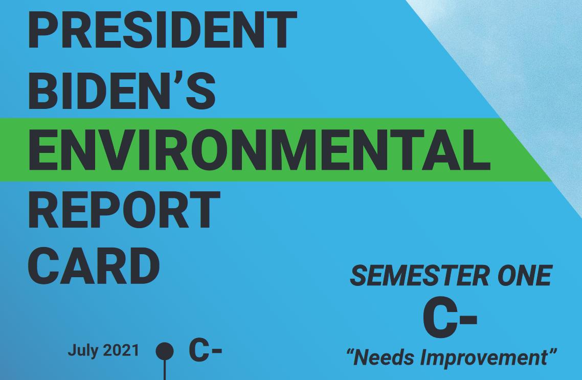 Biden's Report Card -- C-, Needs Improvement