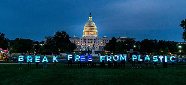 Break Free from Plastics Lights Up in Washington D.C.