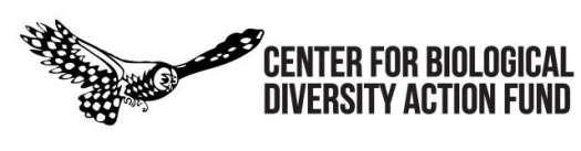 Center for Biological Diversity Action Fund Banner