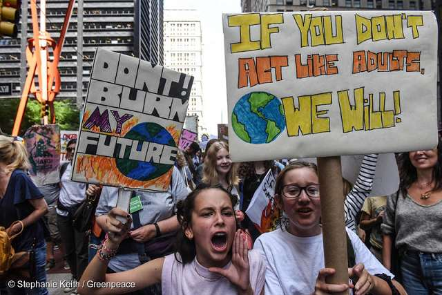 Greenpeace Demonstration - If you don't act like adults, we will!