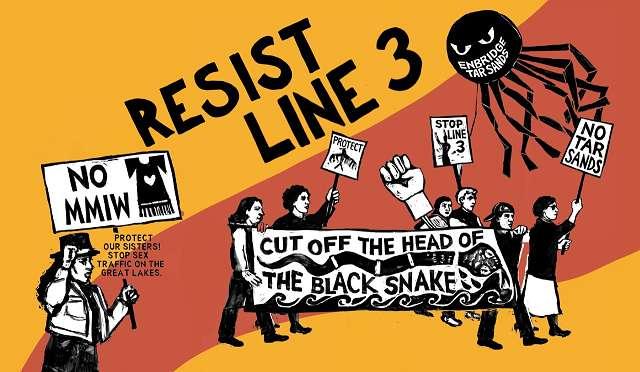 Resist Line 3-Line 3 Poster