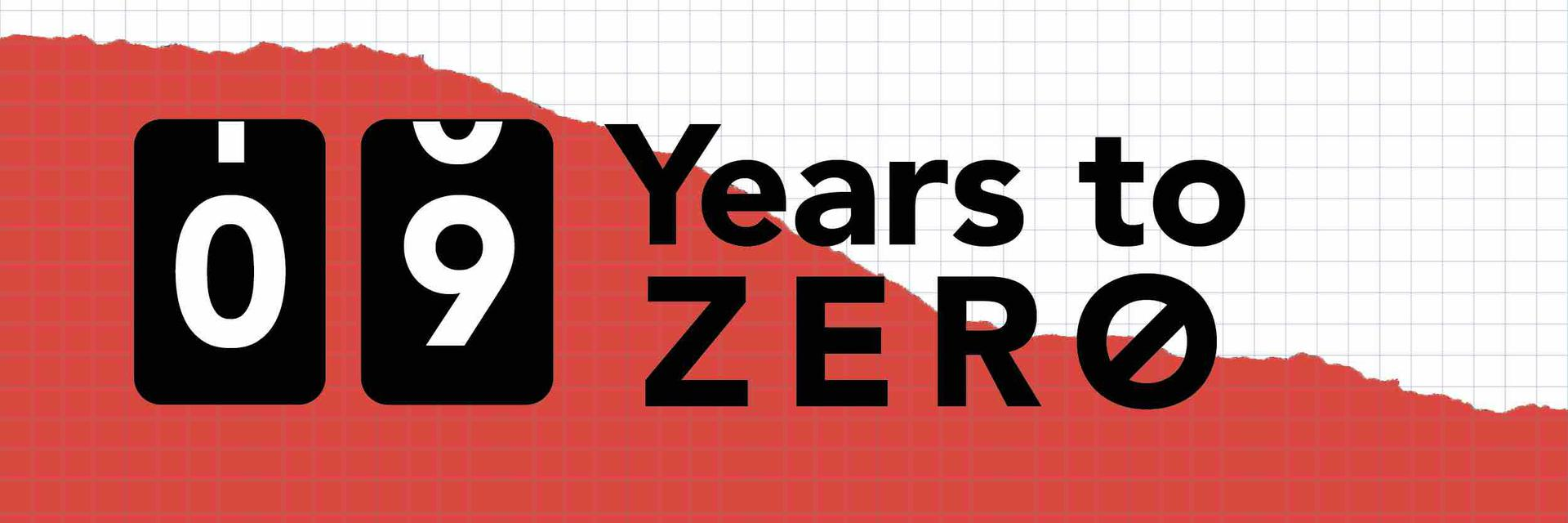 09 Years to ZERO newsletter banner