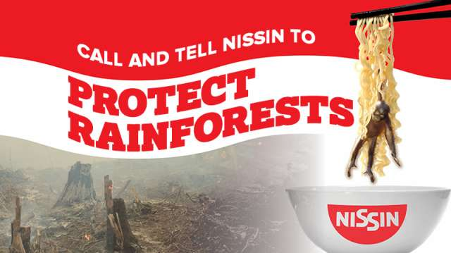 Call and tell Nissin to Protect Rainforests
