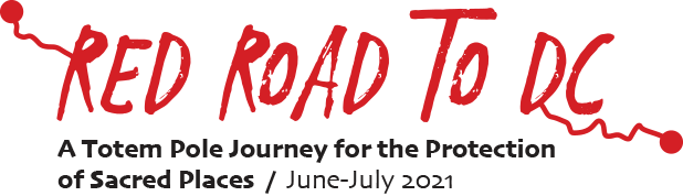 Red Road logo- A Totem Pole Journey for the Protection of Sacred Places / June-July 2021