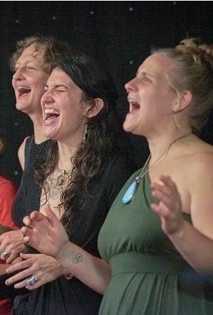 A trio of women singers.