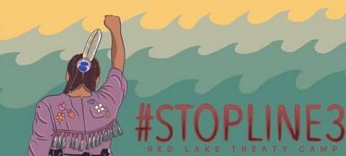 #StopLine3-Indigenous woman in costume