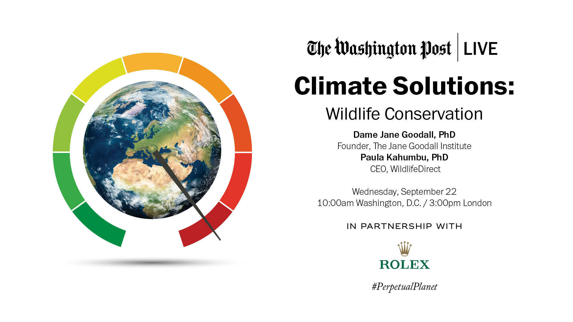 Climate Solutions: Wildlife Conservation - Washington Post Live