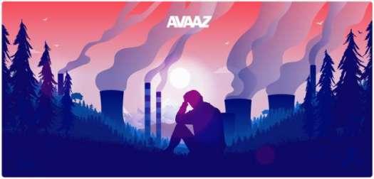 Depressed youth sitting among smoking stacks with hazy sun..