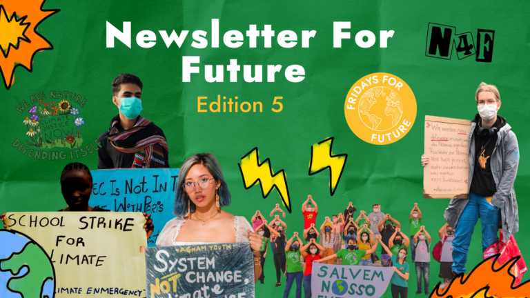 Newsletter for Future Editon 5 - Youth holding protest signs.