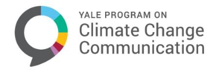 Yale Program on Climate Change Communication banner